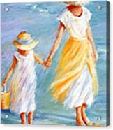 Mother And Daughter Acrylic Print