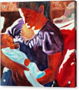 Mother And Newborn Child Acrylic Print