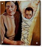 Mother And Son Acrylic Print by Joni McPherson