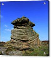 Mother Cap Gritstone Rock Formation, Millstone Edge Acrylic Print