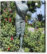 Mother Child Statue Acrylic Print