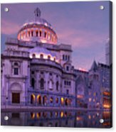 Mother Church And Reflection Acrylic Print
