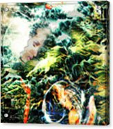 Mother Earth Sister Moon Acrylic Print