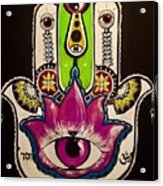 Mother Nature Hamsa Acrylic Print