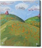 Mother Nature With Poppies Acrylic Print