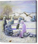 Mother Of Air Goddess Danu - Winter Solstice Acrylic Print