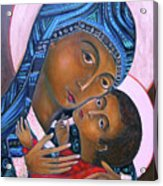 Mother Of God And Child Acrylic Print