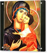 Mother Of God Antiochian Orthodox Icon Acrylic Print by Patrick Kelly