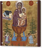 Mother Of God Life Giving Spring With Mother Macaria Of Russia And Blessed Margaret Of Castello 179 Acrylic Print