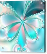 Mother Of Pearl Butterfly Acrylic Print