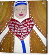 Mother Teresa Acrylic Print