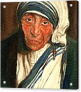 Mother Teresa  Acrylic Print by Carole Spandau