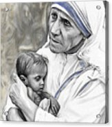 Mother Teresa. God Bless This Child Acrylic Print