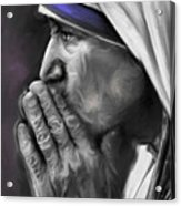 Mother Teresa Of Calcutta Acrylic Print