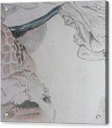 Mother Teresa Pencil Sketch Acrylic Print