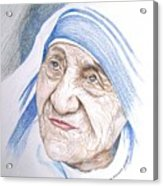 Mother Theresa Acrylic Print