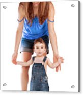 Mother With Little Son Acrylic Print