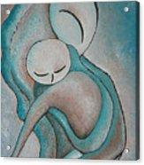 Motherhood Painting My Baby Original Oil By Gioia Albano Acrylic Print