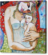 Motherhood - Tribute To Klimt Acrylic Print