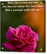 Mother's Day Card 2 Acrylic Print