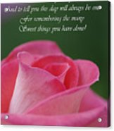 Mother's Day Card 3 Acrylic Print