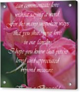 Mother's Day Card 6 Acrylic Print