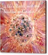 Mothers Day Greeting Card Acrylic Print