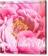 Mother's Day Peony Acrylic Print