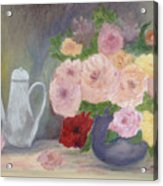 Mother's Roses Acrylic Print by Shirley Lawing