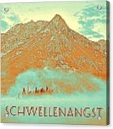 Motivational Travel Poster - Schwellenangst 2 Acrylic Print