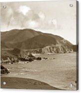Notleys Landing Big Sur Coast Circa 1933 Acrylic Print