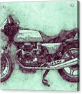 Moto Guzzi Le Mans 3 - Sports Bike - 1976 - Motorcycle Poster - Automotive Art Acrylic Print