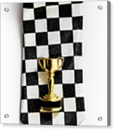 Motor Sport Racing Tie And Trophy Acrylic Print