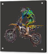Motorbiker Acrylic Print