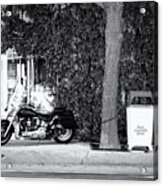Motorcycle In Big Spring Tx Acrylic Print
