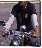Motorcycle Minister Acrylic Print