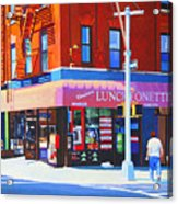 Mott Street Acrylic Print by John Tartaglione