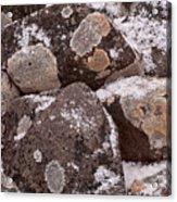 Mottled Stones Acrylic Print