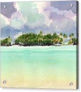 Motu Rapota, Aitutaki, Cook Islands, South Pacific Acrylic Print