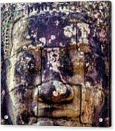 Mould Damage At Angkor Thom Acrylic Print