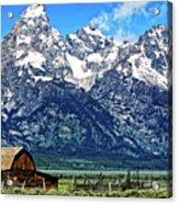 Moulton Barn At Mormon Row Inside Grand Teton National Park Acrylic Print