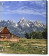Moulton Barn In The Tetons Acrylic Print