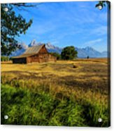 Moulton Barn Jackson Hole Acrylic Print