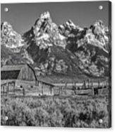 Moulton Cabin - Grand Tetons II Acrylic Print