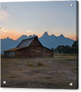 Moulton Ranch Sunset On Mormon Row Acrylic Print