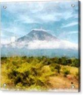 Mount Agung On The Island Paradise Of Bali Acrylic Print