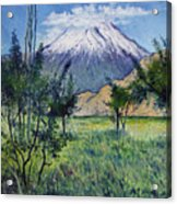 Mount Ararat North Eastern Anatolia Turkey 2006  Acrylic Print
