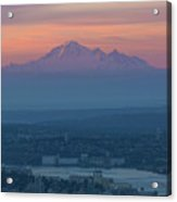 Mount Baker At Sunrise Acrylic Print