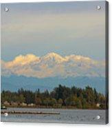 Mount Baker From Semiahmoo Bay In Washington Acrylic Print