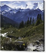 Mount Baker From The Lake Ann Trail Acrylic Print